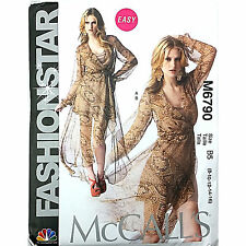 Misses Dress Slip McCalls M6790 Sewing Pattern Fashion Star Loose Fitting c1735
