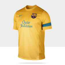 NIKE FC BARCELONA TRAINING TOP 3 FOOTBALL UNIVERSITY GOLD/DYNAMIC BLUE