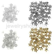 50 Sets Flat Star Rivet Studs Spikes DIY Leathercraft Clothes Shoe Bag Accessory