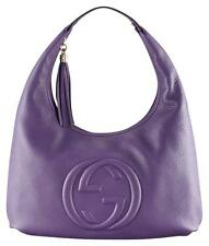 *RARE* New! Authentic Gucci Purple Leather Soho Large Hobo Shoulder Bag- $2,190