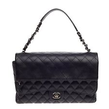 Chanel Chain Double Flap Bag Quilted Lambskin Large