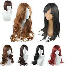 Womens Lady Long Hair Wig Curly Wavy Synthetic Cosplay Party Full Wigs