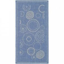 Safavieh Courtyard Circle Blue & Natural Area Rug. Best Price