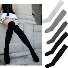 Fashion Girls Ladies Women Thigh High OVER the KNEE Socks Long Cotton Stocking19