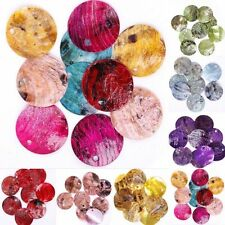Wholesale 50pcs Mussel Shell Flat Round Coin Charm Beads 18mm  Color choose