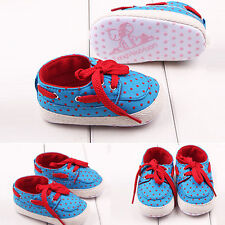 NEW Toddler Baby Boys Girls Trainers Prewalker Infant Kids Soft Sole Crib Shoes