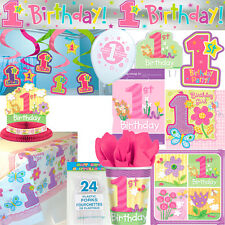 1st Birthday Girl Party Supplies and Decorations - FREE DELIVERY