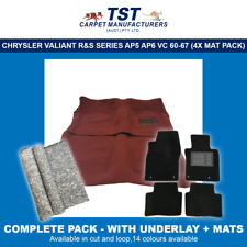 MOULDED CAR CARPETS (J03) CHRYSLER VALIANT R&S SERIES AP5 AP6 VC 60-67 PACKAGE 4
