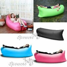 Inflatable Lounger Chair Air Sleep Sofa Bed Outdoor / Indoor Foldable Lazy Bag