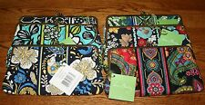 NWT Vera Bradley CLUTCH WALLET with double kisslock closure holds iPhone 4 5 6