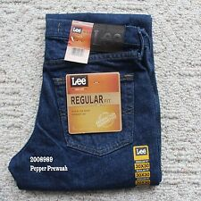 NWT LEE MENS REGULAR FIT Classic Straight Leg Jeans Denim 2008989 Pepper Prewash