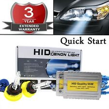 ALL COLOR Quick Start HID Headlight Replacement Bulb KIT High Beam 9005 HB3 6K