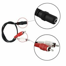 3.5mm Stereo Audio Mic Y Splitter Cable Headphone Adapter Female To 2 Male F5
