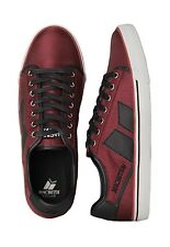 Macbeth James Canvas Sneaker Shoes Ox Blood Red / Black Vegan sizes UK 4-13