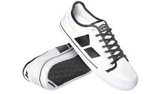 Macbeth James Canvas Sneakers Skate Shoes White/ Black Vegan sizes UK 4-13