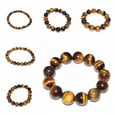 Natural Tiger Eye Stone Lucky bless Beads Men Woman Jewelry Bracelet Bangle hot