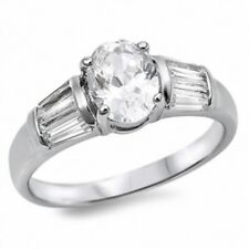 Wedding Engagement Anniversary Bridal Ring 925 Sterling Silver 1.50CT Russian CZ