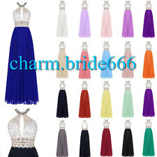 STOCK Halter Formal Prom Party Evening Party Wedding Bridesmaids Dress Size 6-18
