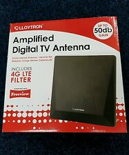 Lloytron Amplified Digital TV Antenna 50db Gain UHF/VHF/DAB FM