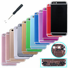 "Multicolor Metal Back Battery Door Cover Housing For Iphone 6s 5.5"" Repair parts"