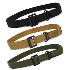 Leisure Outdoor Sport Tactical Military Rescue Rigger Buckle Canvas Belt Men