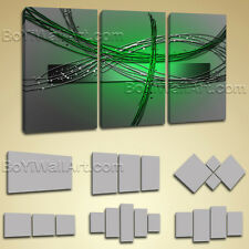 Large Framed Modern Abstract Painting Home Decor Wall Art Print On Canvas Green