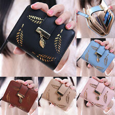 Women Fashion Bifold Wallet Leather Clutch Card Holder Purse Lady Short Handbag~