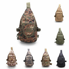 Army Military Camo Sling Chest Day Packs Messenger Shoulder Bags Backpack Sport