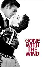 Vintage Gone With The Wind Movie Art Print poster (20x13,36x24inch) Decor 01