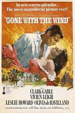 Vintage Gone With The Wind Movie Art Print poster (20x13,36x24inch) Decor 03