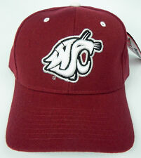 WASHINGTON STATE ST. COUGARS  CRIMSON NCAA VINTAGE FITTED ZEPHYR DH CAP HAT NWT!