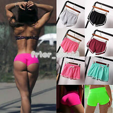 Womens Ladies Yoga Pants Training Fitness Summer Beach Sports Casual Mini Shorts