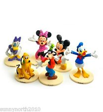 DISNEY CLUBHOUSE FIGURES MICKEY MINNIE DONALD DAISY CAKE TOPPERS TOYS RIBBON NEW