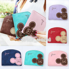 Clutch Coin Cards Bag Womens Purse Ladies Handbag Cute Micky Mouse Short Wallet