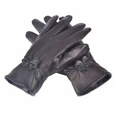 Reed Women's Genuine Leather Warm Lined Driving Gloves - Factory Drop Ship