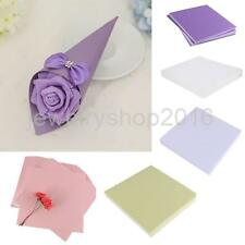 50pcs Multicolor Blank Paper DIY Cards Cone Boxes Craft Gift Favor Decoration