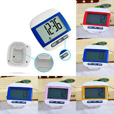 LCD Digital Step Pedometer Running Calorie Counter Distance Run Belt Clip Clock
