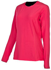 Klim Womens Geranium Pink Solstice Snowmobile Base Layer Long Sleeve Shirt Snow