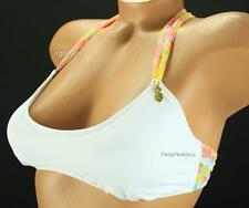 Victoria's Secret White Floral Mesh Pineapple Charm Bralette Crossback Swim Top