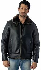 Reed Men's B-3 Bomber Jacket Faux Leather Shearling Style Coat - Great Quality
