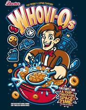Doctor Who Cartoon Breakfast Cereal Collage Parody Satire Teefury Mens Shirt NEW
