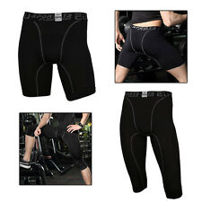 Men Compression Tights Shorts Running Fit Sport Leggings Basketball Base Layers