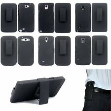 Hybrid Belt Clip Shell Holster Hard Stand Case Cover for S4 5 6 7 Note 2 3 4 5 7