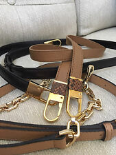 CLIP-ON MICHAEL KORS TONNE BLAKE VANESSA LEATHER REPLACEMENT SHOULDER STRAP RARE