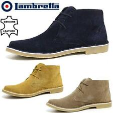 Mens LAMBRETTA Real Suede Casual Walking MOD Chukka Desert Ankle Boots Shoes Siz