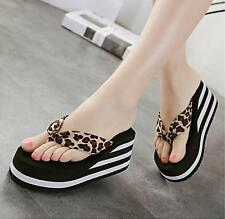 Summer Womens Casual Flip Flops Beach Slippers Sandals Shoes platform heels