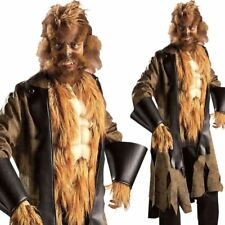 Mens Werewolf Costume Big Mad Wolf Halloween Fairy Tale Fancy Dress Outfit