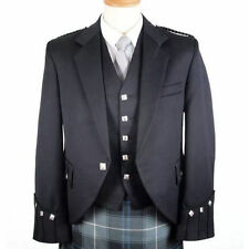 UK Stock Scotish Argyle Kilt Jacket With Free waiscoat/Party dress/Weding dres