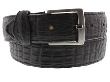 Men's Real Leather Crocodile Belly Black Belt Cowboy Western Rodeo Wear