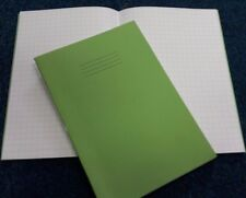 5 RHINO A4 210x297mm 10mm SQUARE EXERCISE BOOKS FOR SCHOOL CLASSROOM LIGHT GREEN